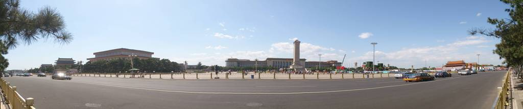 tiananmen square at peking